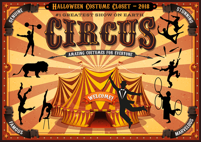 FabrickLink's Halloween Costume Closet brings you The Greatest Show on Earth! CIRCUS - Amazing Costumes for Everyone
